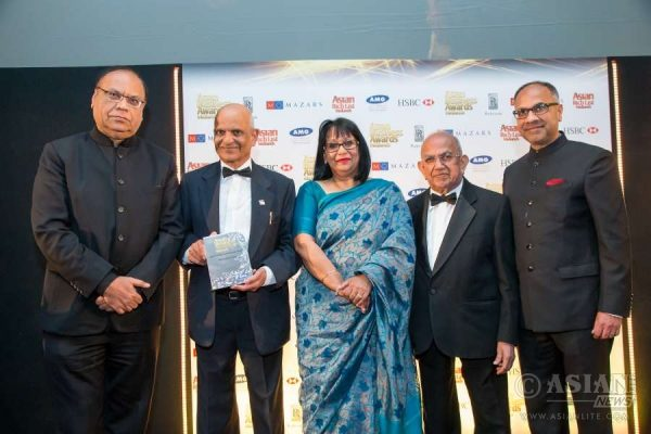 Maganbhai Patel winner of the Spirit in the Community Award at the Asian Business Awards Midlands