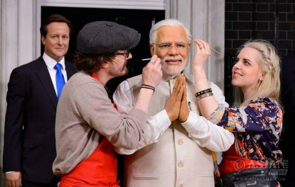 Narendra Modi at Madame Tussauds London 1