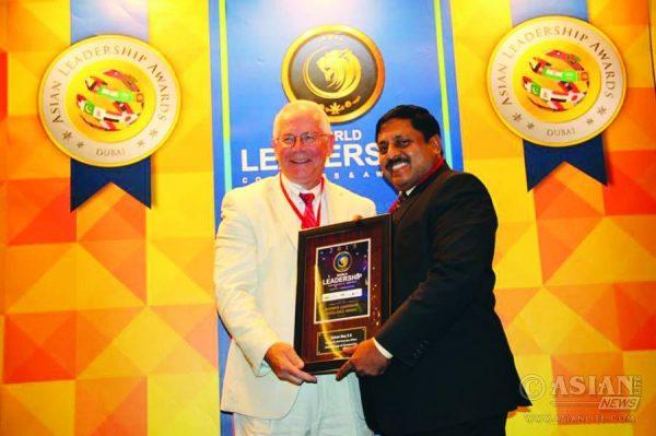 Receiving World Leadership Congress Award (2015)