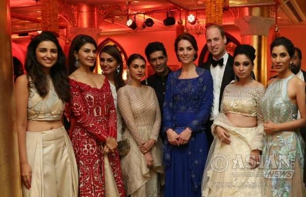 Royal couple William and Kate meets the guests at the charity dinner