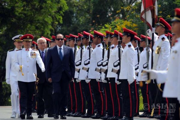 Egyptian President Abdel-Fattah al-Sisi at an event in Singapore (FILE)