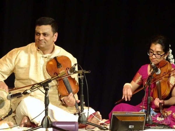 Balu Raguraman and Subathra Raguraman performing at Bhavan