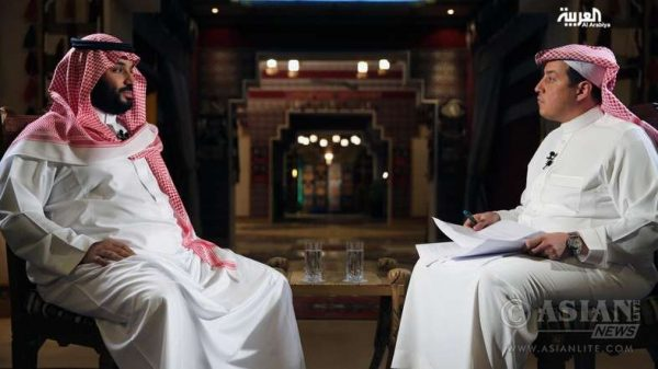 Saudi Arabian Deputy Crown Prince Mohamed Bin Salman in the TV interview