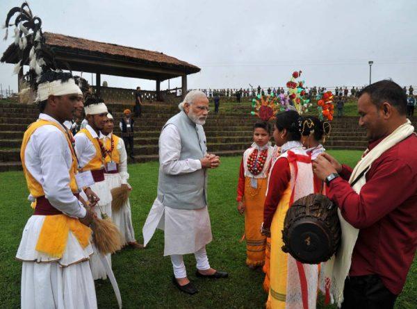 Prime Minister, Shri Narendra Modi visit to Heritage Village, in Meghalaya