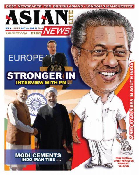 Asian Lite cover Pinarayi Vijayan