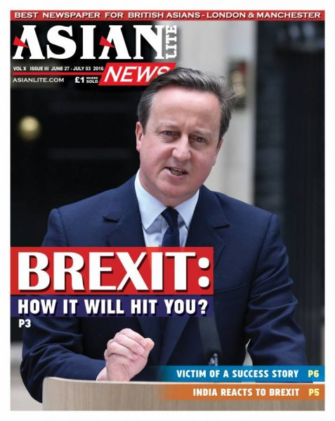 Asian Lite Special Edition on Brexit Cameron Brexit-Cover