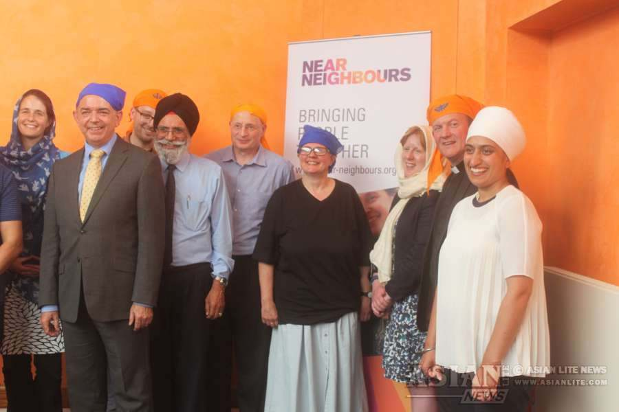 Lord Bourne, the newly appointed Minister for Integration, visits Guru Singh Sabha Gurdwara in Southall, the largest Sikh temple in London, to meet community leaders