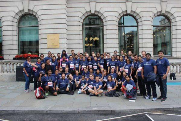 IAHV runners at the 10k British marathon run 2016