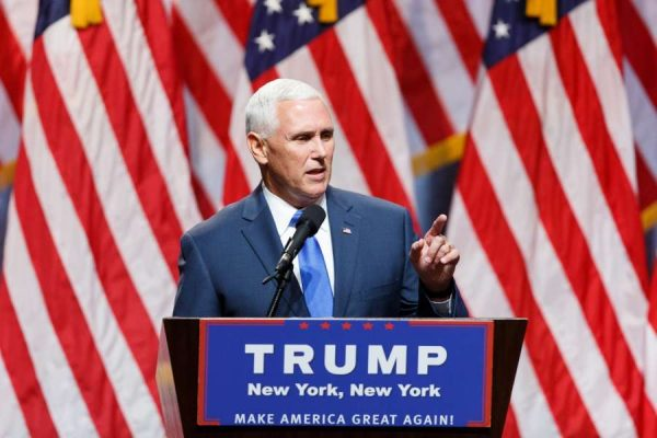 Indiana Governor Mike Pence speaks during a Donald Trump's campaign event in New York, the United States, July 16, 2016. U.S. presumptive Republican Presidential nominee Donald Trump announced on Friday he had chosen Indiana Governor Mike Pence as his running mate.