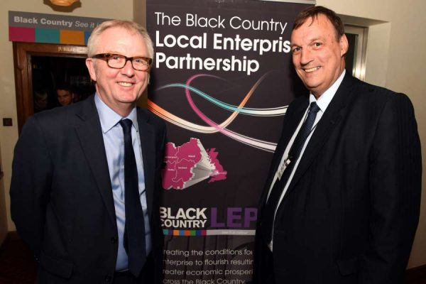 Ian Austin MP and Stewart Towe Chair Black Country LEP. Black Country showcase at House of Commons. 120716