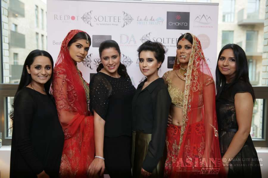 The London Studio for Indian couture designer Sulakshana Monga's luxe label, Soltee, opened its doors