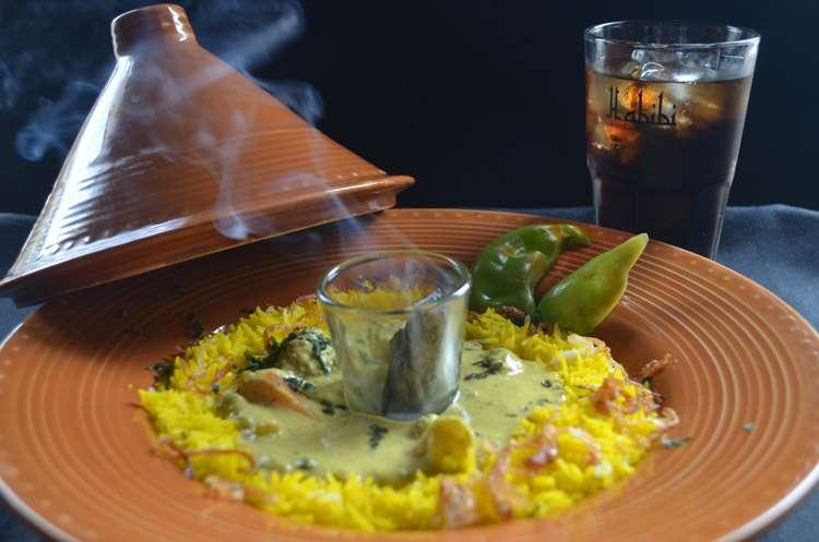 Tagine(Veg Khadur Curry with Saffron Rice)