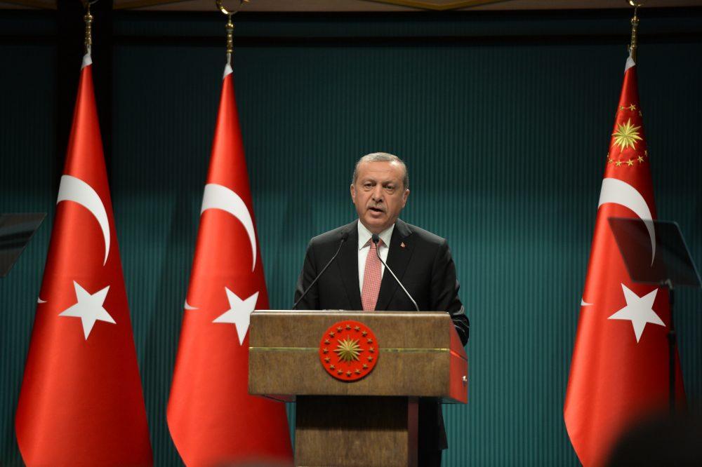 Turkish President Recep Tayyip Erdogan speaks at a press conference in Ankara, Turkey (Xinhua/Mustafa Kaya)