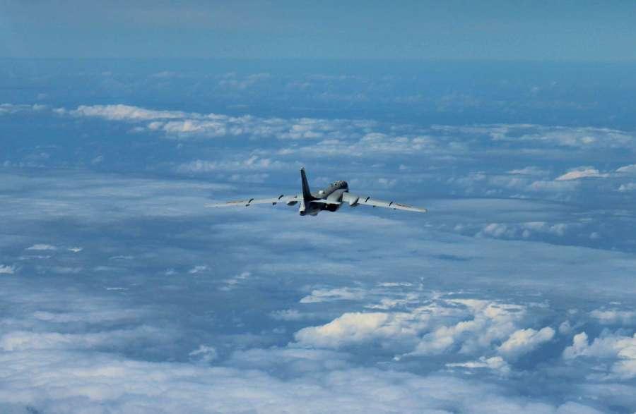 Su-30 fighter partols over the South China Sea.