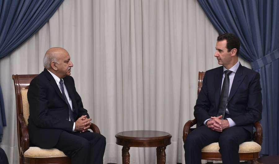 Indian Minister MJ Akbar meets Syrian President Bashar Al Assad