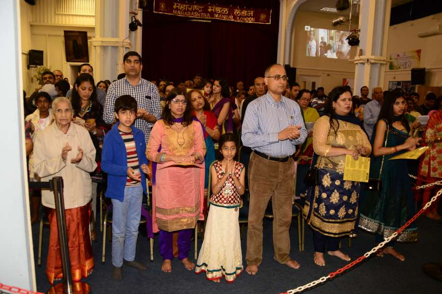 Attendees at th London Ganeshotsav