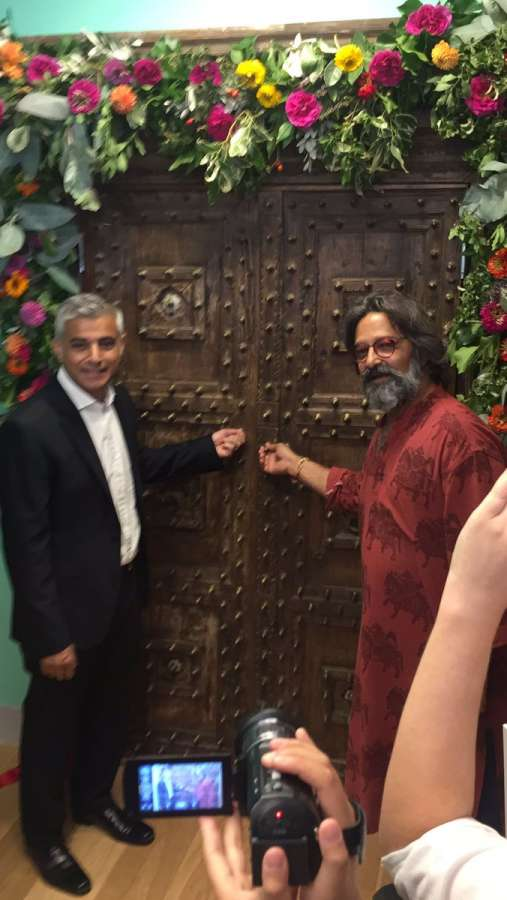 London Mayor Sadiq Khan with Tara Theatre director Jatinder Verma