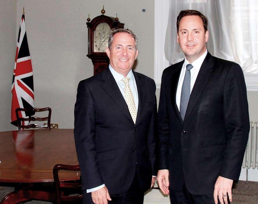 Dr Liam Fox with Australia's Trade Minister Steve Ciobo