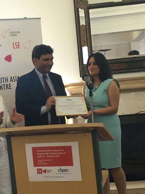Dr Virander Paul with Sanam Arora, President, NISAU