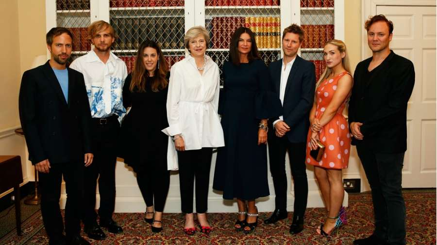 Prime minister Theresa May with the LFW delegation