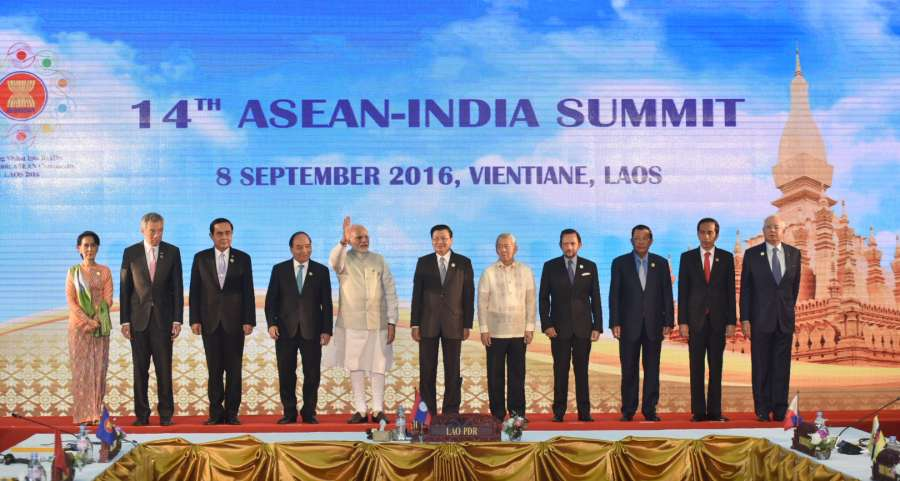 Modi attends the 14th Asean-India summit-at Vientiane