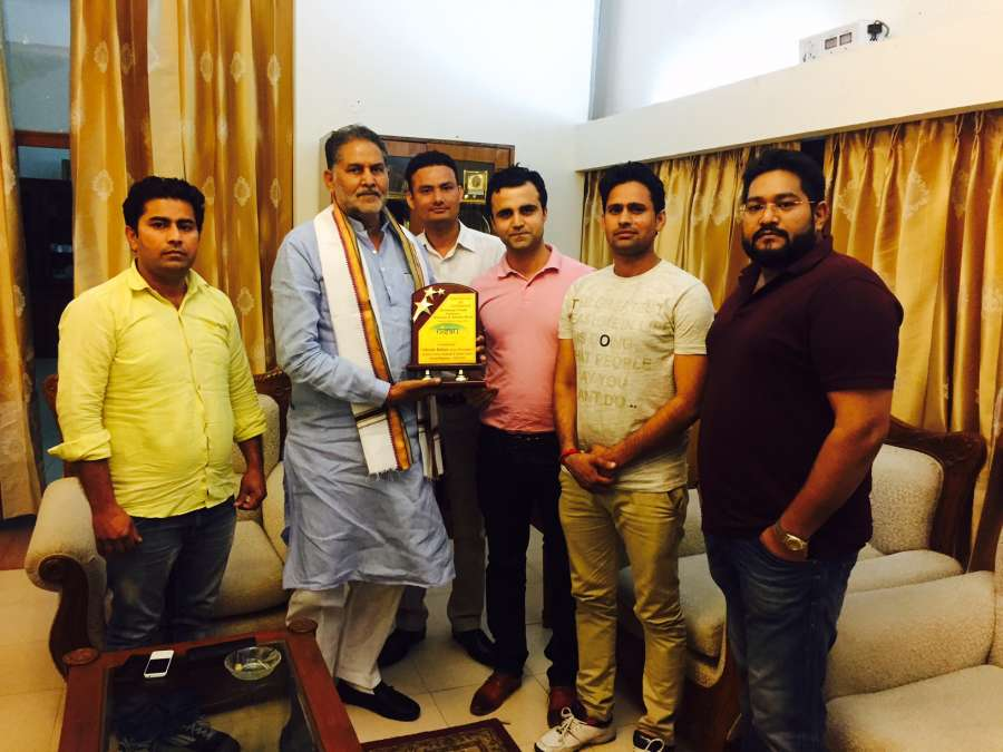 Haryana Education Minister Mr. Ram Bilas Sharma with NISAU members