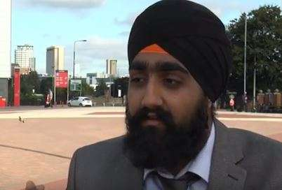 Onkar Singh, a new recruit of Greater Manchester Policer