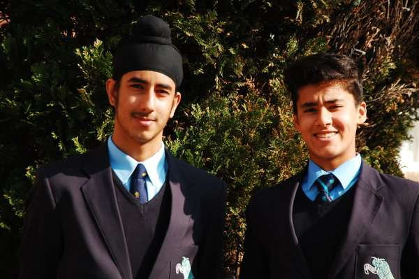 Manchester Grammar School boys Marvy Nerwan and  cousin Hukam Nerwan