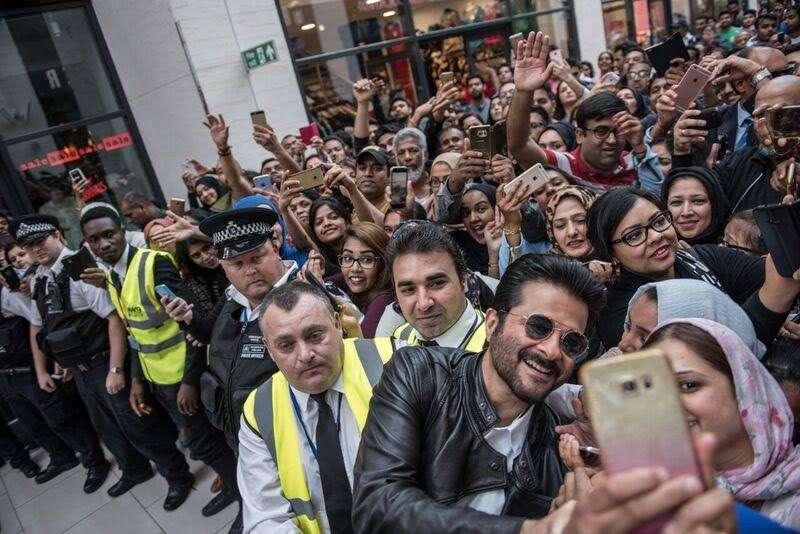 Ani Kapoor promoting his serial 24 in London
