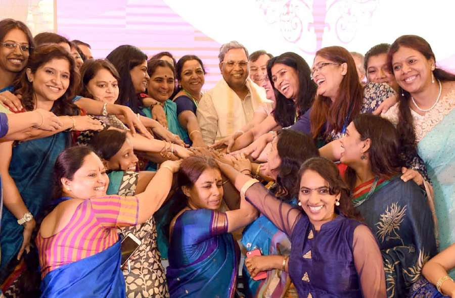 Karnataka Chief Minister Sidharamiah during a women business event