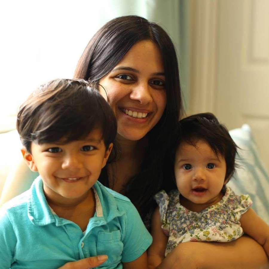 Rashmi with children