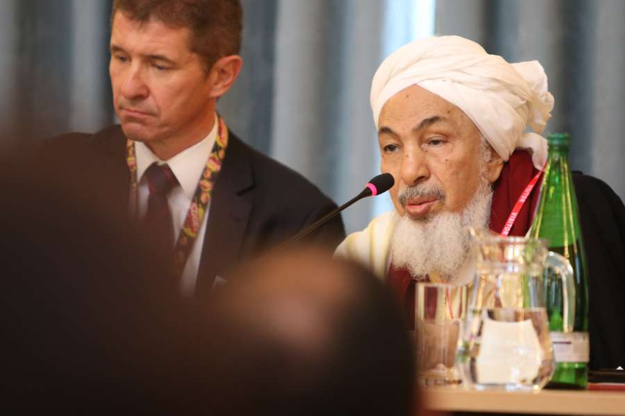 Shaykh Abdallah Bin Bayyah, Forum for Promoting Peace at the two day summit to bring together experts to explore how freedom of religion or belief can help prevent violent extremism held at the Foreign & Commonwealth Office in London