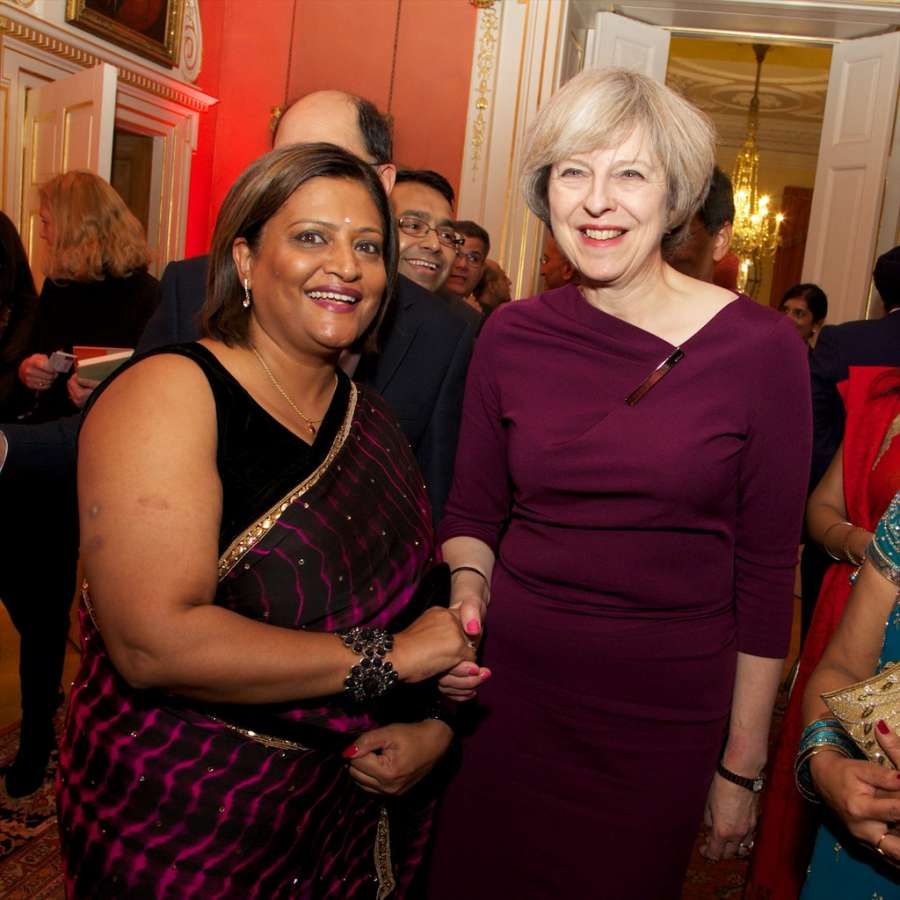 British Prime Minister Theresa May hosts Diwali reception at No 10