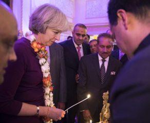 Theresa Opens Doors For Diwali
