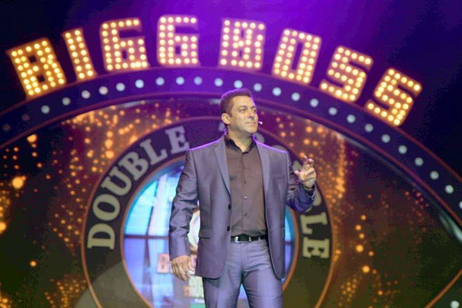 Mumbai: Actor Salman Khan during the press conference with launch of reality television show Bigg Boss season 9 in Mumbai on Sep 28, 2015. (Photo: IANS)