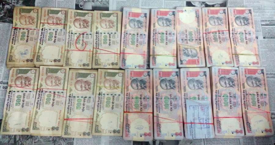 Old currency notes of Rs 500 and 1000 . (File Photo: IANS)