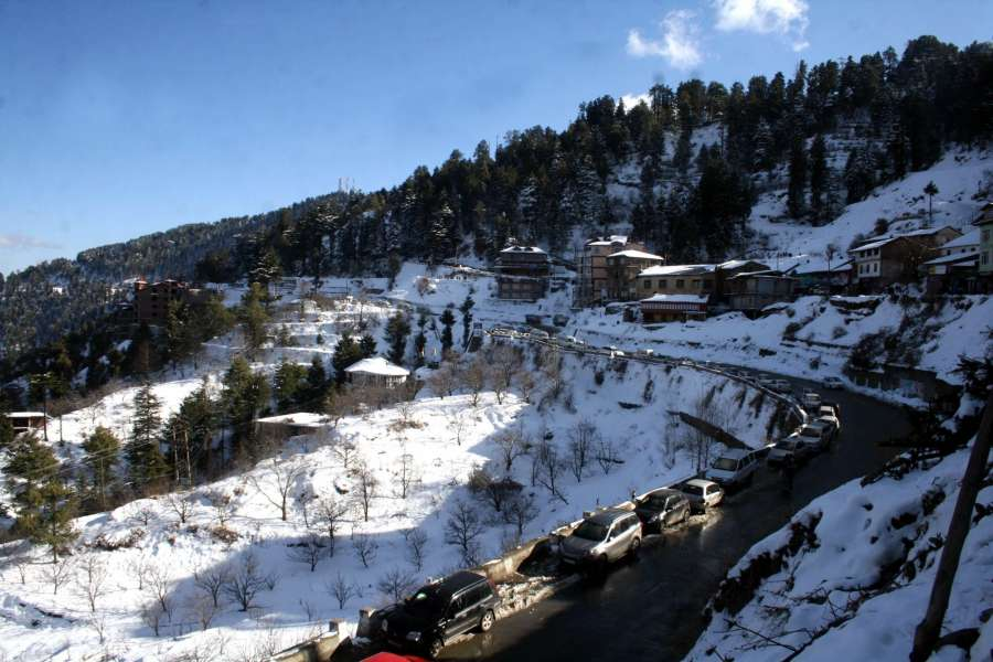 Snow covered hills in Himachal Pradesh