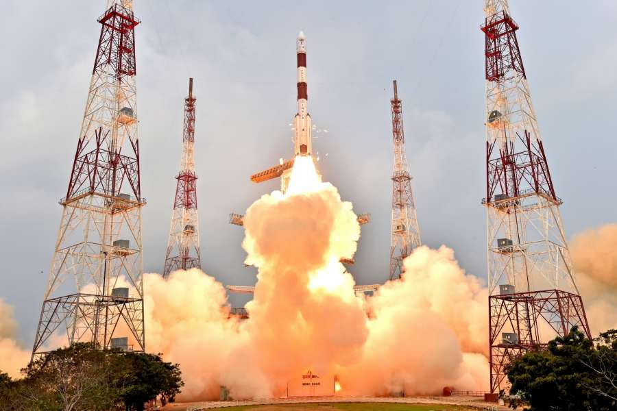 Sriharikota: Indian Space Research Organisation (ISRO)'s PSLV-C31 carrying IRNSS-1E , lifts off from Satish Dhawan Space Center in Sriharikota, a barrier island off the Bay of Bengal coast located in Andhra Pradesh on Jan 20, 2016. (Photo: IANS)