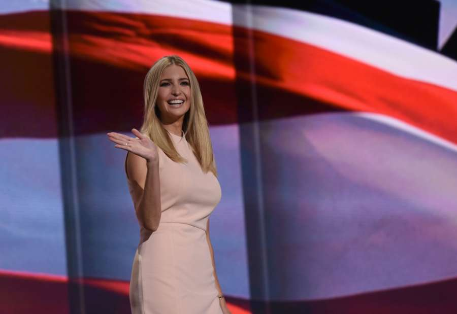 CLEVELAND, July 22, 2016 (Xinhua) -- Ivanka Trump, daughter of Republican presidential nominee Donald Trump, speaks on the last day of the Republican National Convention in Cleveland, Ohio, the United States, July 21, 2016. (Xinhua/Yin Bogu/IANS)