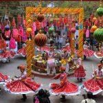 Jaipur: Folk dancers perform at the venue of Jaipur Literature Festival at Diggi Palace in Jaipur, on Jan 20, 2016. (Photo: Ravi Shankar Vyas/IANS)