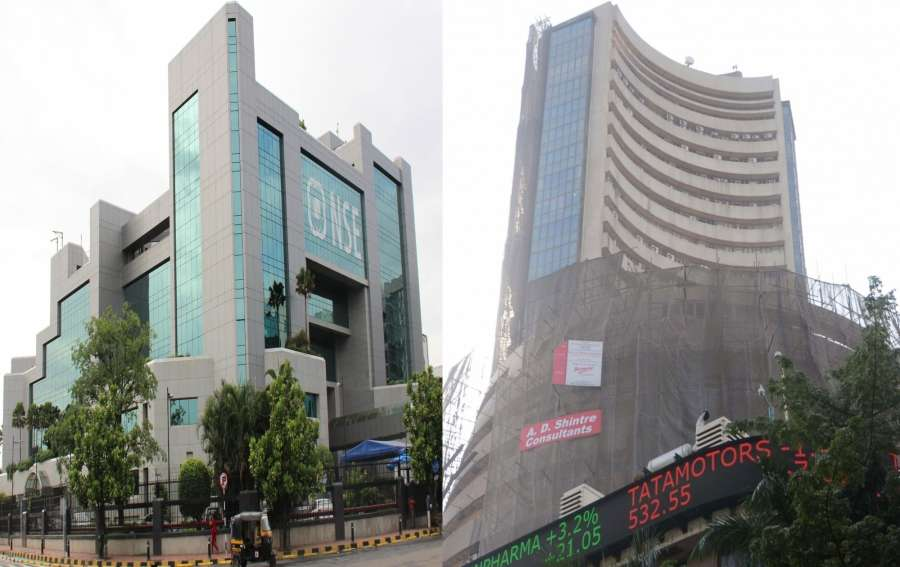 Mumbai: A view of National Stock Exchange (NSE) and Bombay Stock Exchange (BSE). (File Photo: IANS)