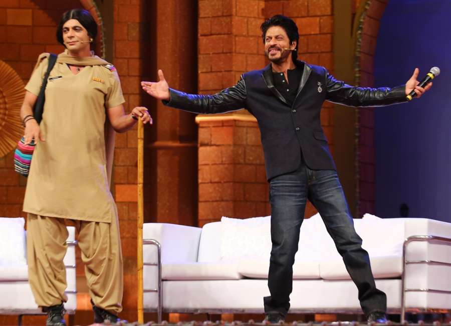Actor and stand-up comedian Sunil Grover and actor Shah Rukh Khan during