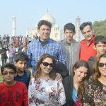 Agra: Actress Madhuri Dixit visits the Taj Mahal in Agra on Dec 25, 2016. (Photo: Pawan Sharma/IANS)
