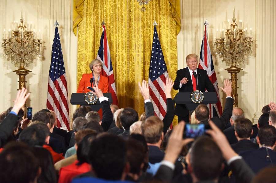 U.S.-WASHINGTON D.C.-DONALD TRUMP-THERESA MAY-MEETING by .