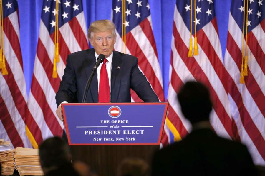 U.S.-NEW YORK-PRESIDENT-ELECT-TRUMP-NEWS CONFERENCE