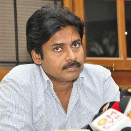 Hyderabad: Pawan Kalyan during a pressmeet for his film Sardaar Gabbar Singh. (Photo: IANS)