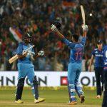 Pune: Hardhik Pandiya and Ravichandran Ashwin celebrate after India won the 1st ODI match between against England at the Maharashtra Cricket Association Stadium in Pune on Jan 15, 2017. (Photo: Surjeet Yadav/IANS)