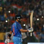 Pune: Indian captain Virat Kohli celebrates his century during the 1st ODI match between India and England at the Maharashtra Cricket Association Stadium in Pune on Jan 15, 2017. (Photo: Surjeet Yadav/IANS)