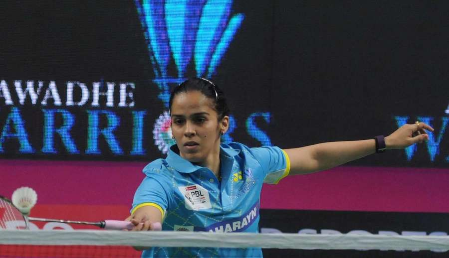 New Delhi: Saina Nehwal of Awadhe Warriors in action against PV Sindhu of Chennai Smashers during a Premier Badminton League 2017 match in New Delhi on Jan 13, 2017. (Photo: IANS)