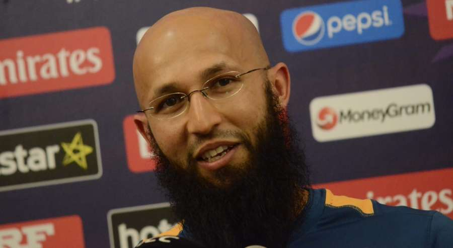 Mumbai: South Africa cricketer Hashim Amla during a press conference in Mumbai on March 19, 2016. (Photo: IANS) by .